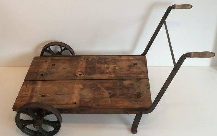 Industrial Vintage Trolley Wheelbarrow Cart Steel