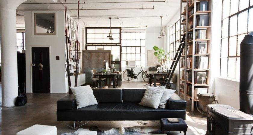 Industrial Warehouse Design Living Room
