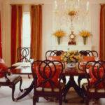 Inspiration Design Board Traditional Dining Room Red
