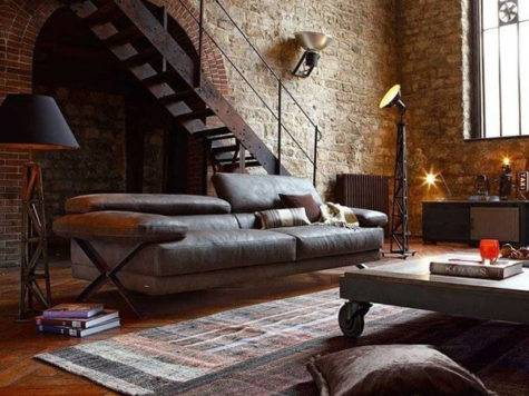Inspirational Industrial Living Room Designs House