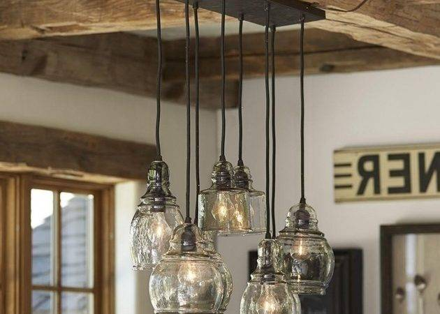 Inspiring Blown Glass Chandelier Pottery Barn Vuquiz