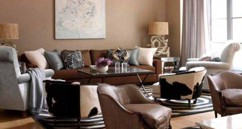 Inspiring Living Room Color Ideas Brown Furniture