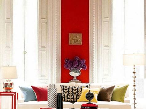 Inspiring Red Rooms Making Lovely