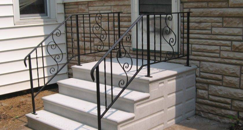 Installing Concrete Stair Treads Railing Stairs