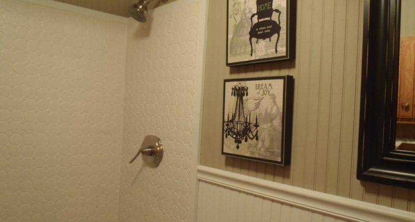 Interesting White Vinyl Wainscoting Panels Bathroom