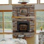 Interior Contemporary Stone Fireplace Designs Home Decor
