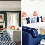 Interior Ideas Navy Coral Living Room