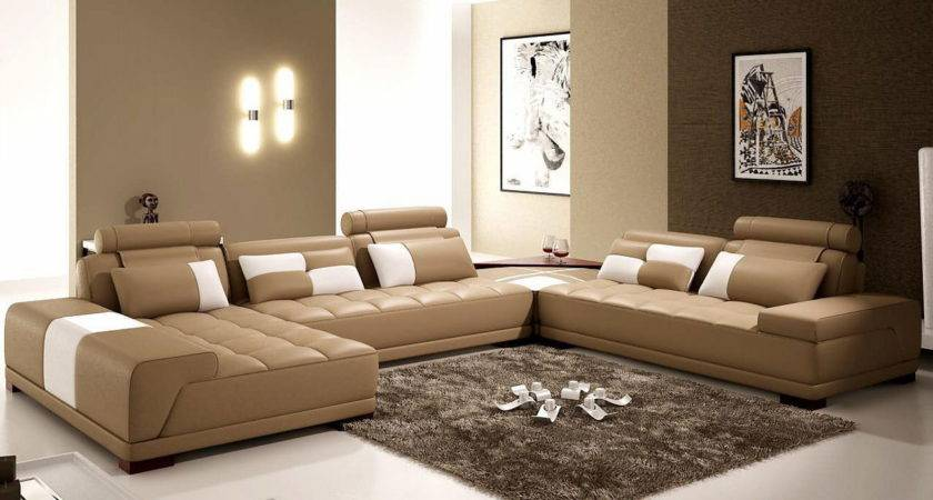Interior Living Room Brown Color Features