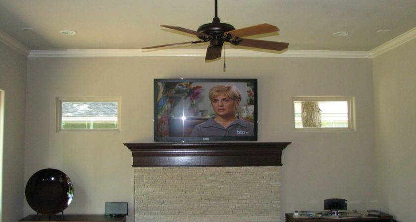 Interior Mounting Above Fireplace Ceiling Fan