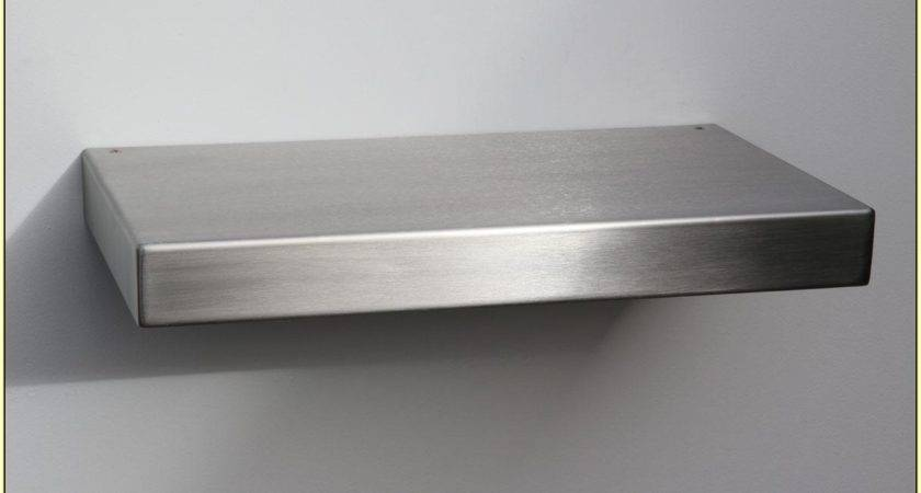 Interior Stainless Steel Floating Shelves Two Tiers