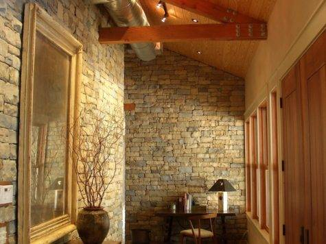 Interior Stone Walls Staircase Traditional