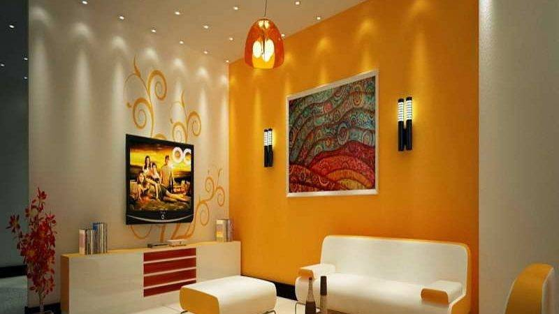 Interior Wall Painting Colour Combinations Drawing Room