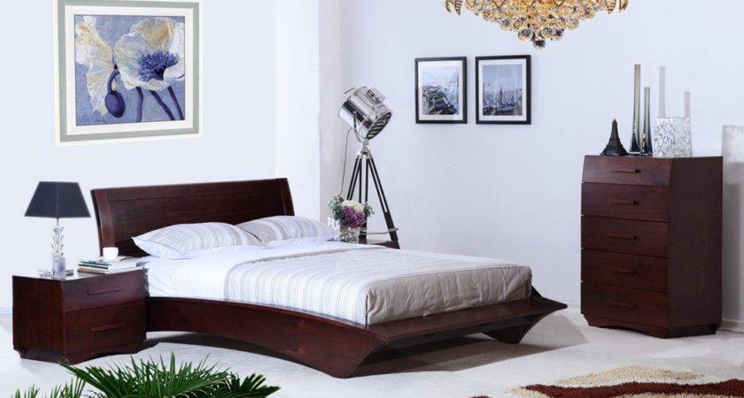 Interior White Brown Bedroom House