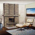 Interior York Stone Fireplace Mantel Design