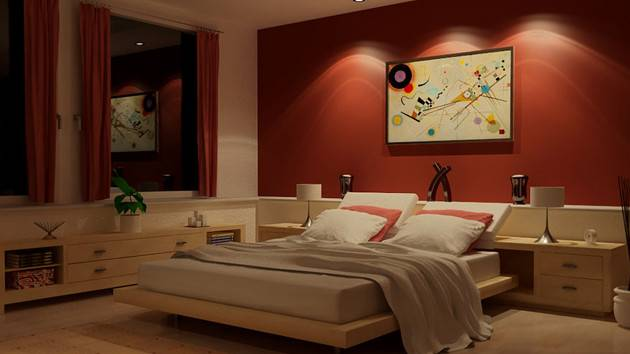 Invigorating Red Bedroom Designs Home Design Lover