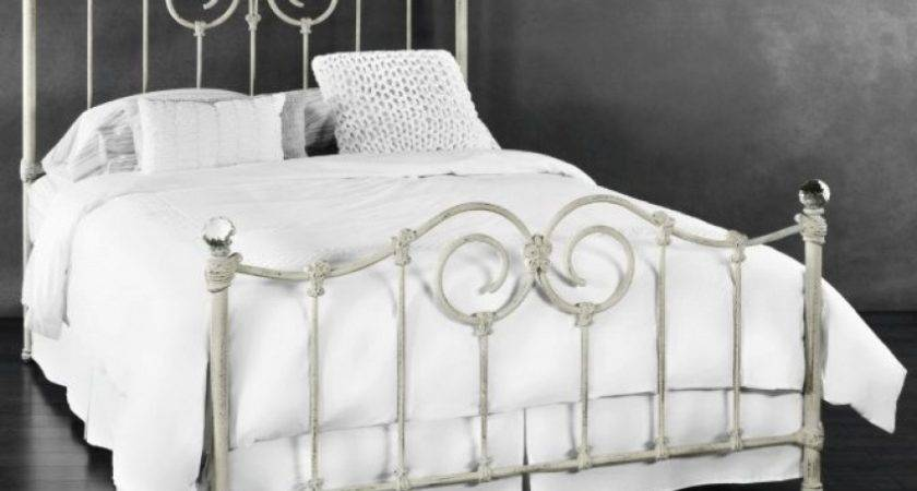Iron Beds Wrought Humble Abode White Bed Frame Queen