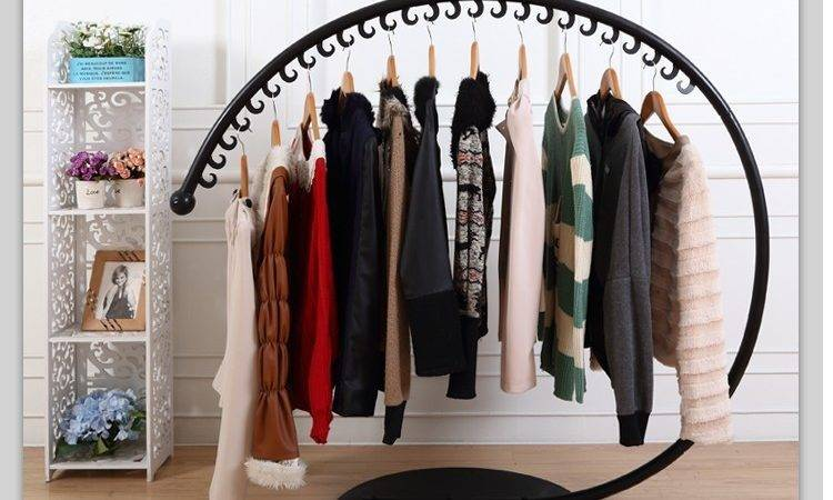 Iron Clothing Rack Store Display Racks Island