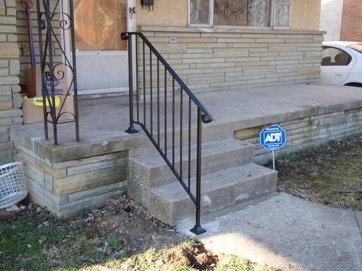 Iron Exterior Handrails Stair Solution