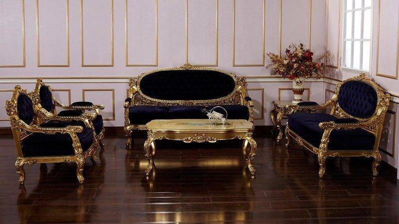 Italian Furniture Living Room Hand Carved