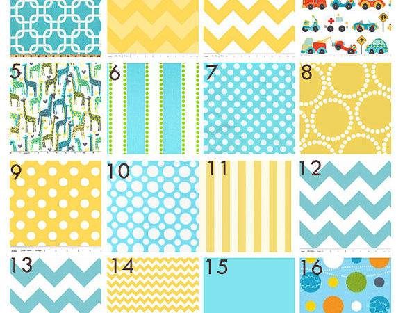 Items Similar Custom Baby Bedding Aqua Grey Yellow
