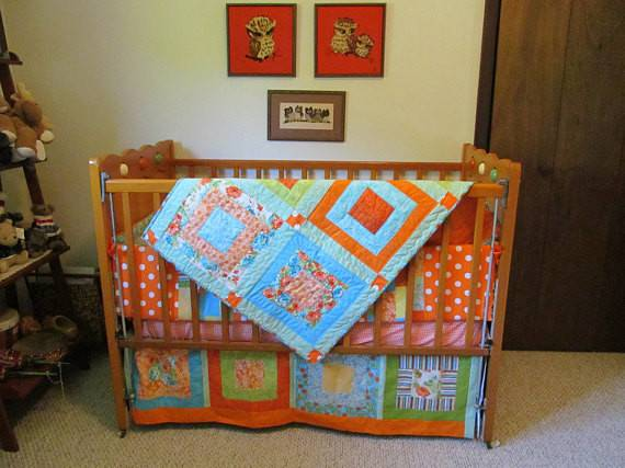 Items Similar Handmade Baby Bedding Set Orange