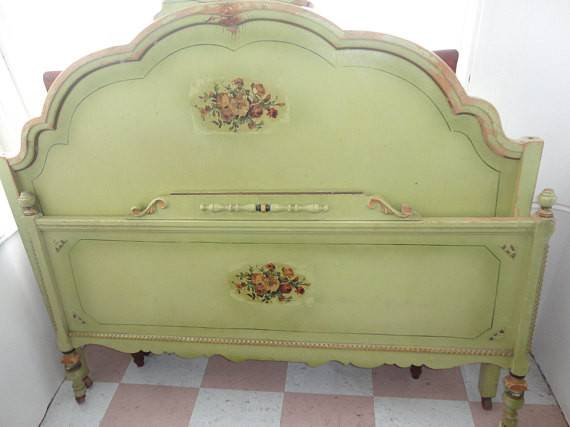 Items Similar Vintage Shabby Chic Green Bed