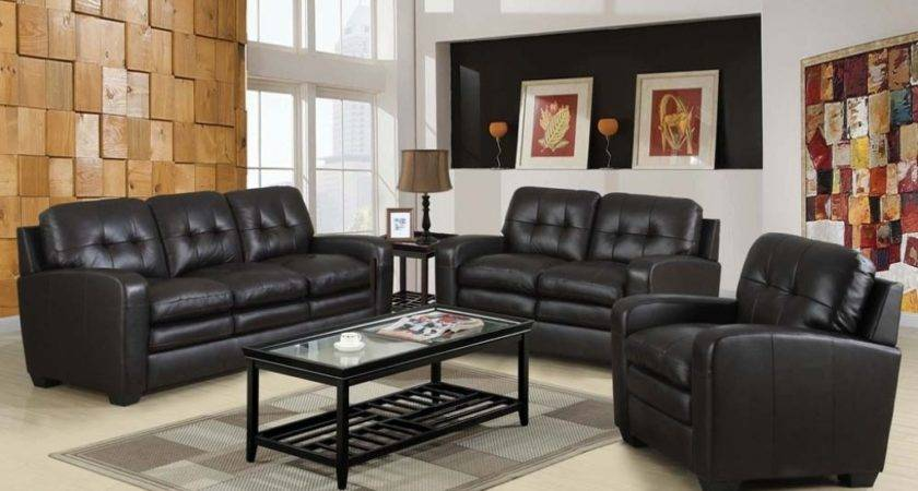 Ivory White Wall Paint Color Black Leather Tufted