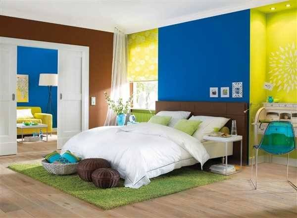 Juicy Lime Blue Brown Color Combination Interior