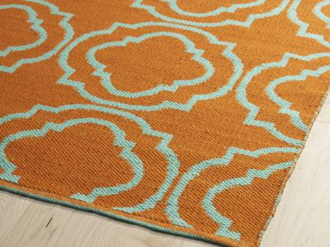 Kaleen Brisa Orange Teal Indoor Outdoor Area Rug Reviews