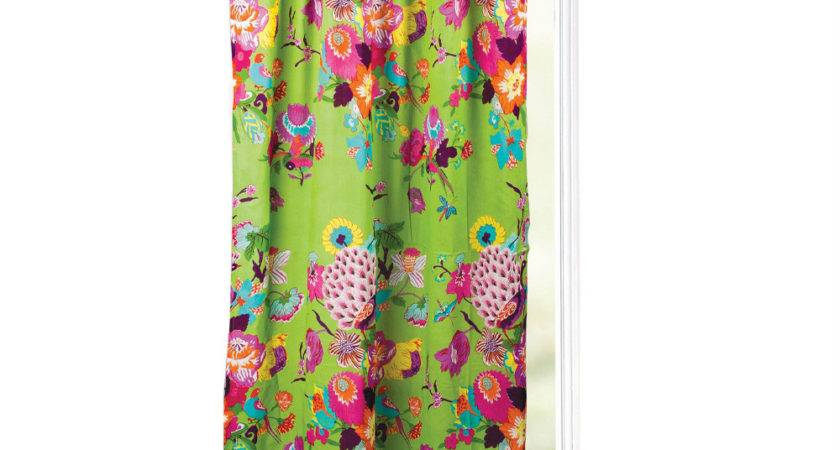 Karma Living Green Purple Peacock Curtain Panel Zulily