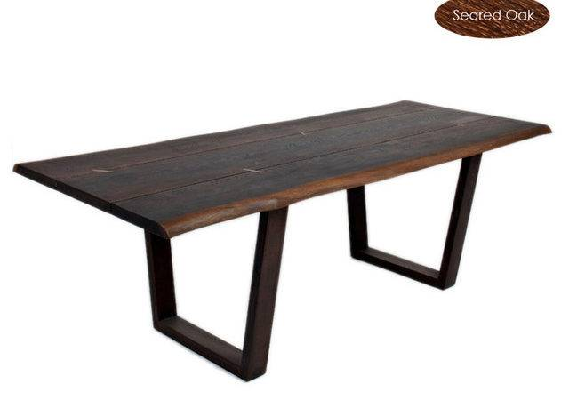 Kava Dining Table Smoked Oak Small Eclectic