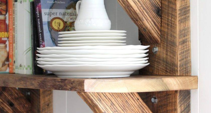 Keeping Cozy Reclaimed Wood Kitchen Shelves