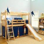 Kids Bed Design Play Twin Transitional Wooden Material