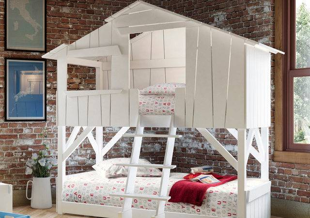 Kids Bedroom Treehouse Bed Bunk Bunkbed Beach Style