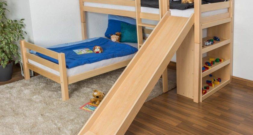 Kids Bunk Bed Slide Stairs Unac