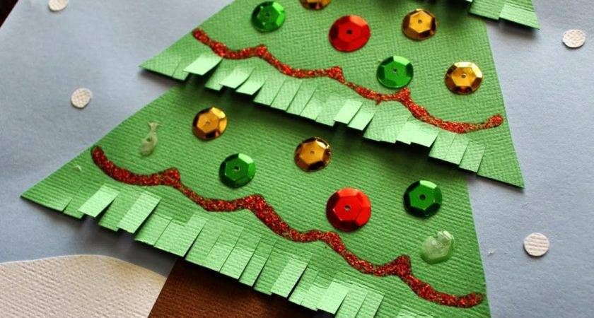 Kids Christmas Tree Craft Heart Crafty Things