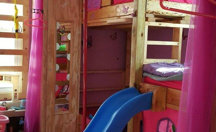Kids Custom Made Tripple Bunk Bed Slide Monkey Bars
