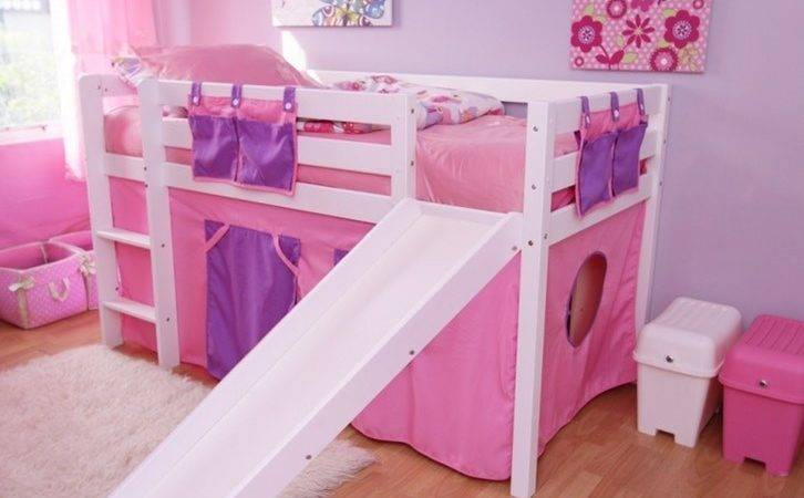 Kids Furniture Fdo Bella Mid Sleeper Bunk Bed Slide