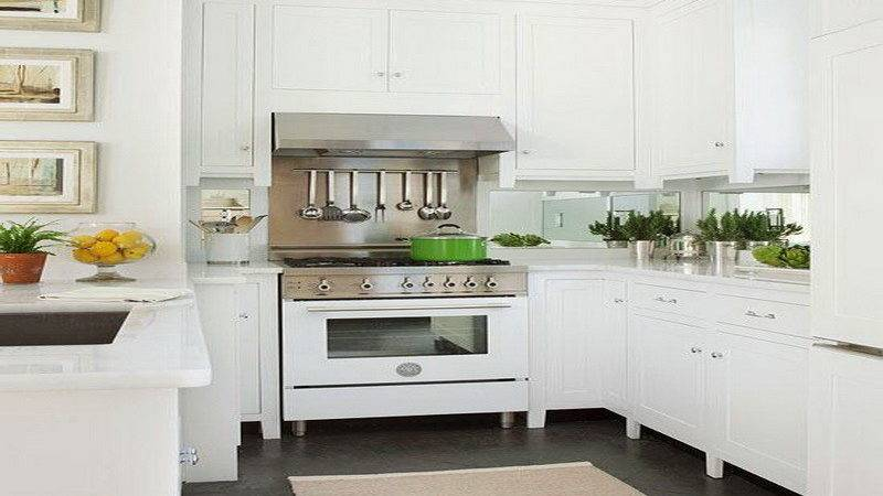 Kitchen Bright White Cabinet Ideas Small