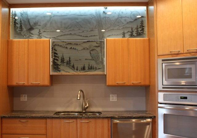 Kitchen Cabinet Door Glass Other Metro Crawford