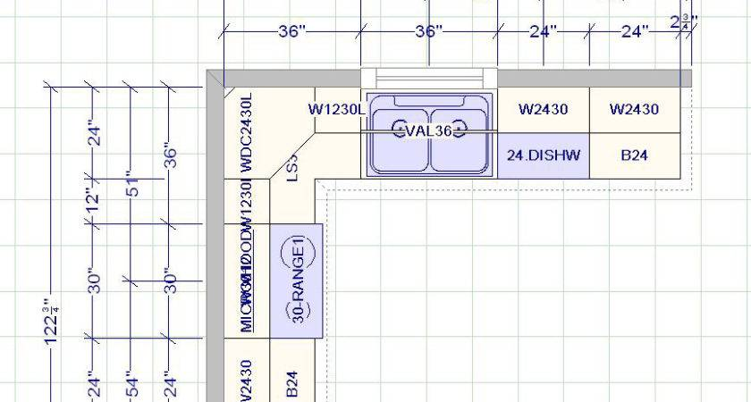 Kitchen Cabinets Measurement Design Layout