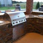 Kitchen Classy Outdoor Charcoal Grill Island Built