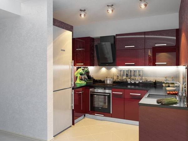 Kitchen Decorating Idea Small Modern Red