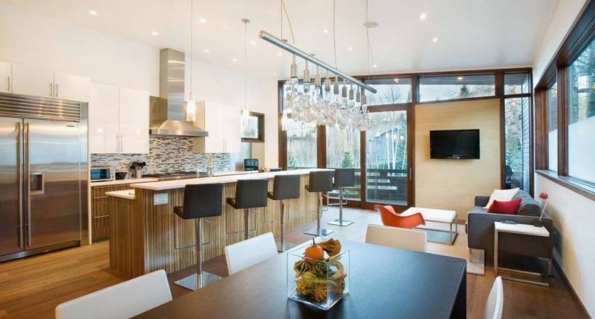 Kitchen Dining Room Small Contemporary House