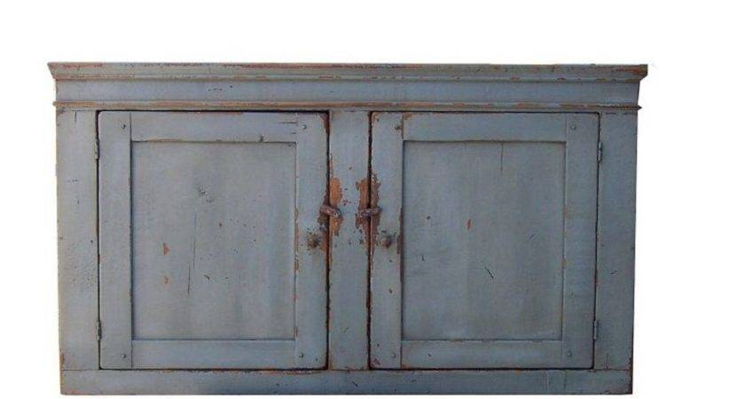 Kitchen Furniture Primitive Wall Cupboard Cabinet Painted