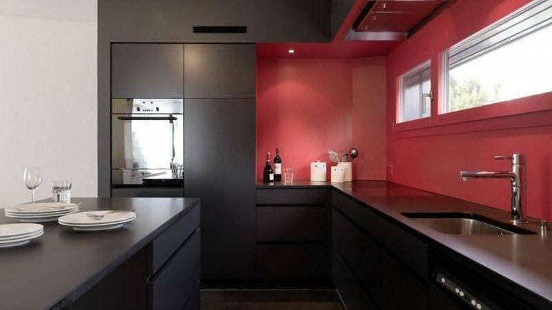 Kitchen Modular Black Red Ideas Things
