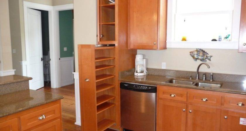 Kitchen Shaped White Wooden Pantry Cabinet Shelves