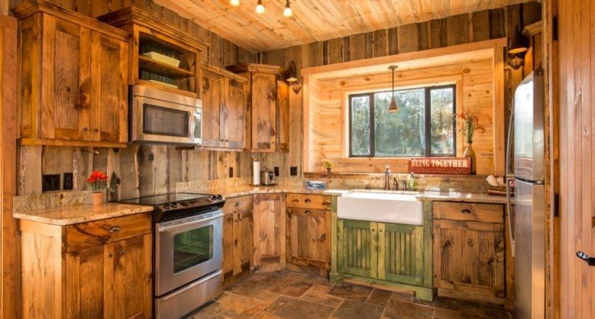 Kitchen Traditional Decorated Rustic Cabin
