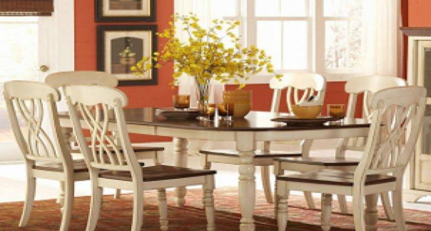 Kitchenette Tables Chairs White Country Dining Room