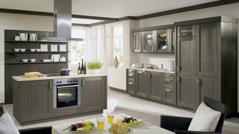 Kitchens Modern Gray Kitchen Cabinets